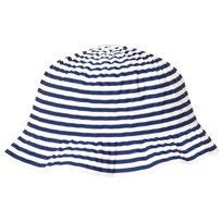 Grevi Blue and White Sun Hat with Spot Bow 7111