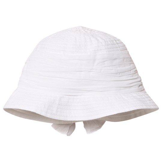 Grevi White Sun Hat with Bow 7301