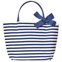 Grevi Blue Stripe Handbag with Spot Bow 7111