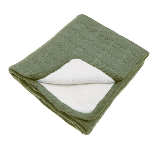 Vinter & Bloom Teddy Blanket Forest Green Forest Green