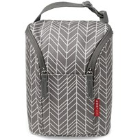 Skip Hop Grab & Go Double Bottle Bag Grey Feather Grey Feather