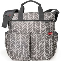 Skip Hop Duo Signature Diaper Bag Grey Feathers Grey Feather