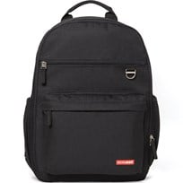 Skip Hop Duo Diaper Backpack Black Musta