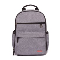 Skip Hop Duo Diaper Backpack Heather Grey Grey