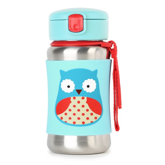 Skip Hop Zoo Stainless Steel Straw Bottle Owl Uggla