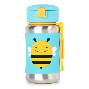 Image of Skip Hop Zoo Stainless Steel Straw Bottle Bee (3031536361)