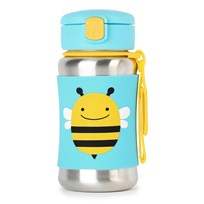Skip Hop Zoo Stainless Steel Straw Bottle Bee Bi
