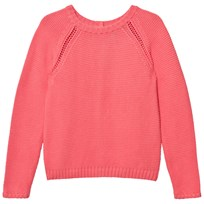 Cyrillus Pink Knitted Sweater Button Back Detail Pink
