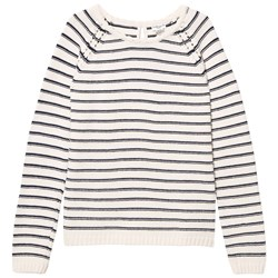 Cyrillus Off White and Navy Sailor Stripe Jumper