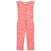 Cyrillus Pink Floral Frill Sleeve Jumpsuit Pink