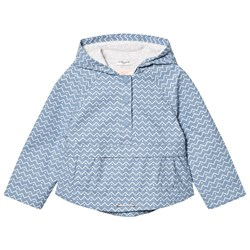 Cyrillus Pale Blue Printed Hooded Raincoat