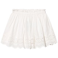 Cyrillus White Broderie Anglaise Skirt White