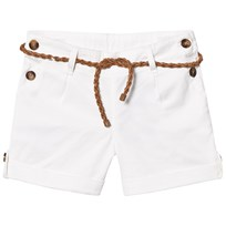 Cyrillus White Button Detail Shorts with Belt White