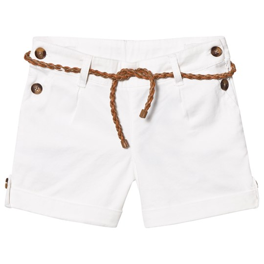 Cyrillus White Chino Shorts with Belt Off White White