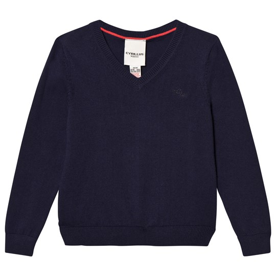 Cyrillus Navy V-Neck Jumper Navy