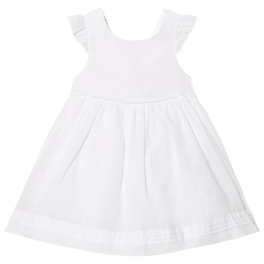 Cyrillus White Frill Sleeve Dress White