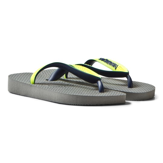 Havaianas Kids Top Mix Sandal Steel Grey steel grey/led yellow fluor