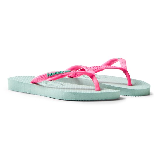 Havaianas Kids Slim Logo Pop Up Sandal Mentha Green mentha green
