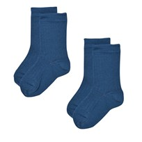 Lillelam 2-Pack Merino Wool Socks Blue Blue