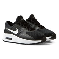 NIKE Black and White Air Max Zero Essential Kids Trainers BLACK/WHITE-DARK GREY
