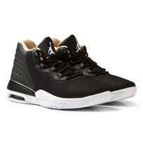 Air Jordan Black Jordan Academy Junior Trainers BLACK/WHITE-COOL GREY-VACHETTA TAN