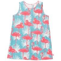 Billieblush Blue Flamingo Jersey Beach Dress Z40