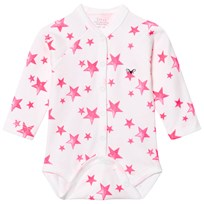Livly Long Sleeve Full Snap Body Hot Pink Stars Hot Pink Stars