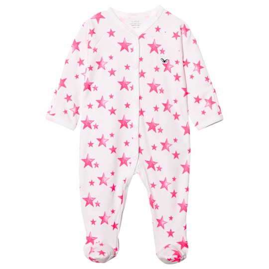 Livly Simplicity Footed Baby Body Hot Pink Stars Hot Pink Stars