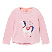 Joules Pink Horse Applique Tee ROSE PINK HORSE