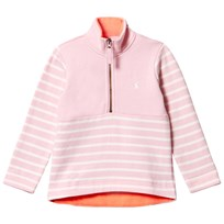 Joules Pink Stripe Half Zip Fleece ROSE PINK STRIPE