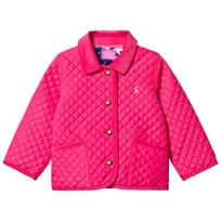 Joules Bright Pink Quilted Jacket PRETTY PINK