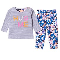 Joules Hug Me Tee and Floral Leggings Set HUG ME STRIPE