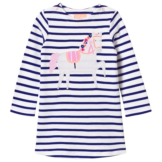 Tom Joule Navy and White Stripe Horse Applique Dress POOL BLUE STRIPE