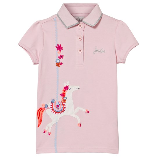 Tom Joule Pink Merry Go Round Applique Polo ROSE PINK HORSE