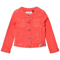 IKKS Coral Denim Jacket with Broiderie Anglais Detail 03