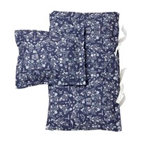 garbo&friends Mares Dark Junior Bed Set Mares Pattern Darkblue