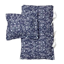 garbo&friends Mares Dark Adult Bed Set Mares Pattern Darkblue