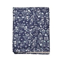 garbo&friends Mares Dark Bed Cover 120x180 cm Mares Pattern Darkblue
