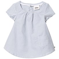 eBBe Kids Janja Dress Off-White Blue Stripe Offwhite/Blue stripe