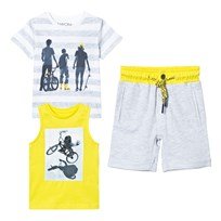 Mayoral Grey Tee, Vest and Jersey Shorts Set 12