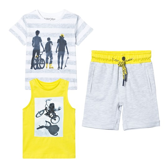 Mayoral Grey Tee, Vest Jersey Shorts Set 12