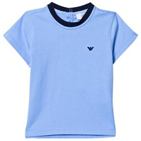 Armani Junior Blue Classic Branded Tee 1506