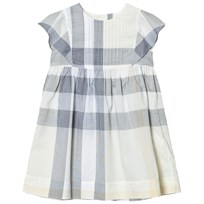 Burberry Yellow Check Gertrude Dress Pale Yellow