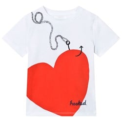 Burberry White Love Hooked Print Tee