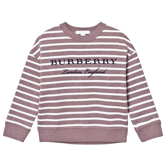 Burberry Brown Stripe Eli Jumper Pink Azalea Melange