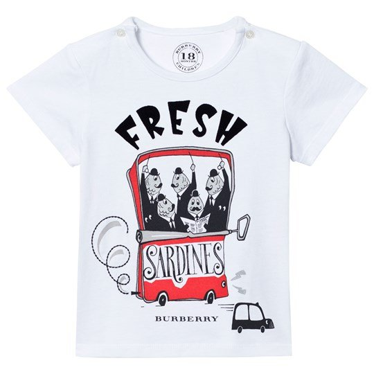 Burberry White Mini Sardines Tee White