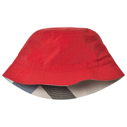 Burberry Red Channing Sun Hat Military Red