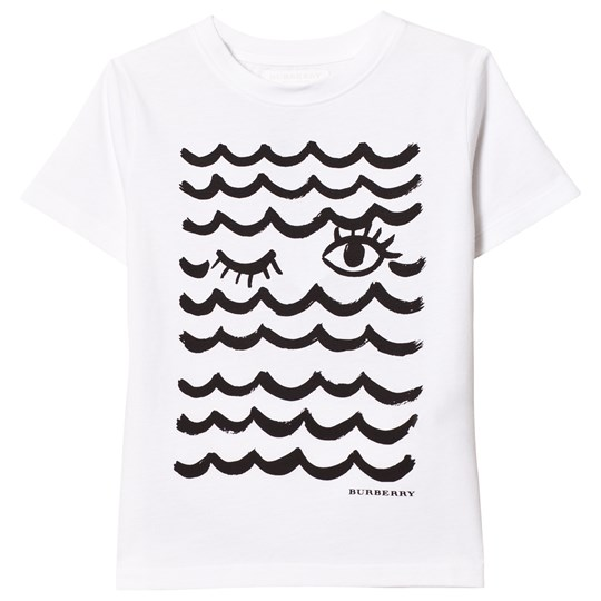 Burberry White Waves & Lashes Tee White