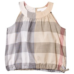 Burberry Beige Classic Check Mini Sleeveless Top
