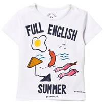 Burberry White Full English Print Tee White